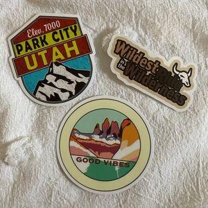 Utah Park City Sticker Pack